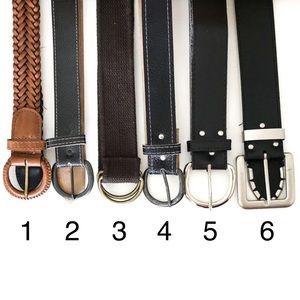 Accessories - EUC Various Belts Black, Brown, Brass, Silver